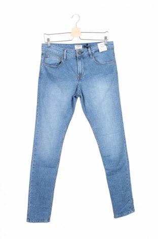 Мъжки дънки Pull&Bear, Размер M, Цвят Син, 99% памук, 1% еластан, Цена 48,30лв.