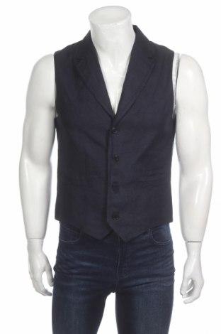 Pánská vesta  Drykorn for beautiful people, Rozměr M, Barva Modrá, 69% len, 41% bavlna, Cena  540,00Kč