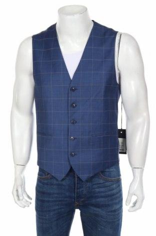 Pánská vesta  Drykorn for beautiful people, Rozměr L, Barva Modrá, 88% vlna, 8% polyamide, 4% elastan, Cena  548,00Kč