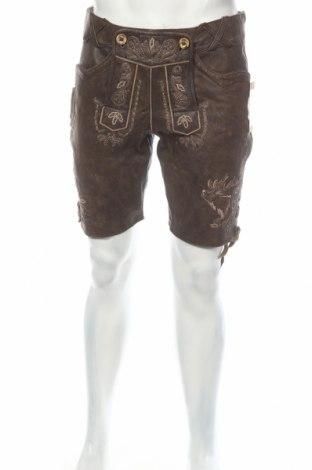Мъжки къс панталон Feierlaune, Размер L, Цвят Кафяв, Естествена кожа, Цена 62,41лв.