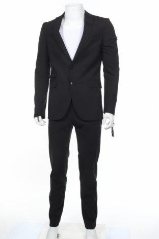Ανδρικό κοστούμι Drykorn for beautiful people, Μέγεθος M, Χρώμα Μαύρο, 53% πολυεστέρας, 43% μαλλί, 4% ελαστάνη, Τιμή 198,70€