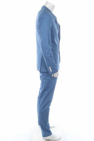 Мъжки костюм Drykorn for beautiful people, Размер L, Цвят Син, 97% памук, 3% еластан, Цена 396,75лв.