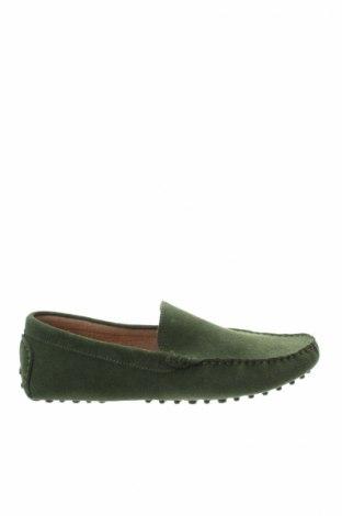 Мъжки обувки John Scott, Размер 44, Цвят Зелен, Естествен велур, Цена 56,00лв.