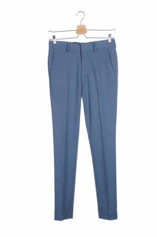 Мъжки панталон Asos, Размер XXS, Цвят Син, 65% полиестер, 33% вискоза, 2% еластан, Цена 31,15лв.