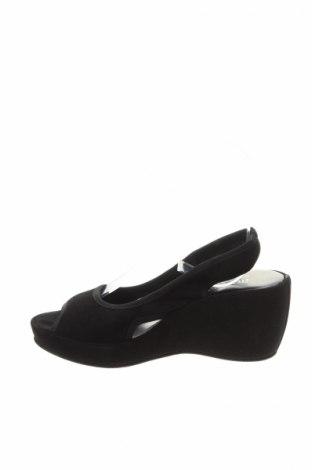 Sandale Accessoire Diffusion, Mărime 35, Culoare Negru, Velur natural, Preț 125,53 Lei