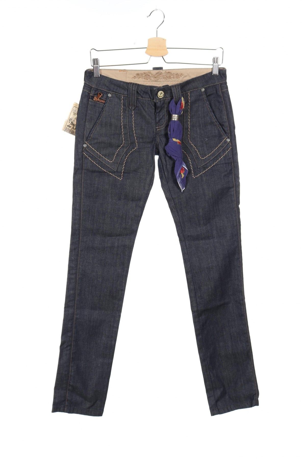 Дамски дънки Bandits Du Monde, Размер S, Цвят Син, 98% памук, 2% еластан, Цена 19,80лв.