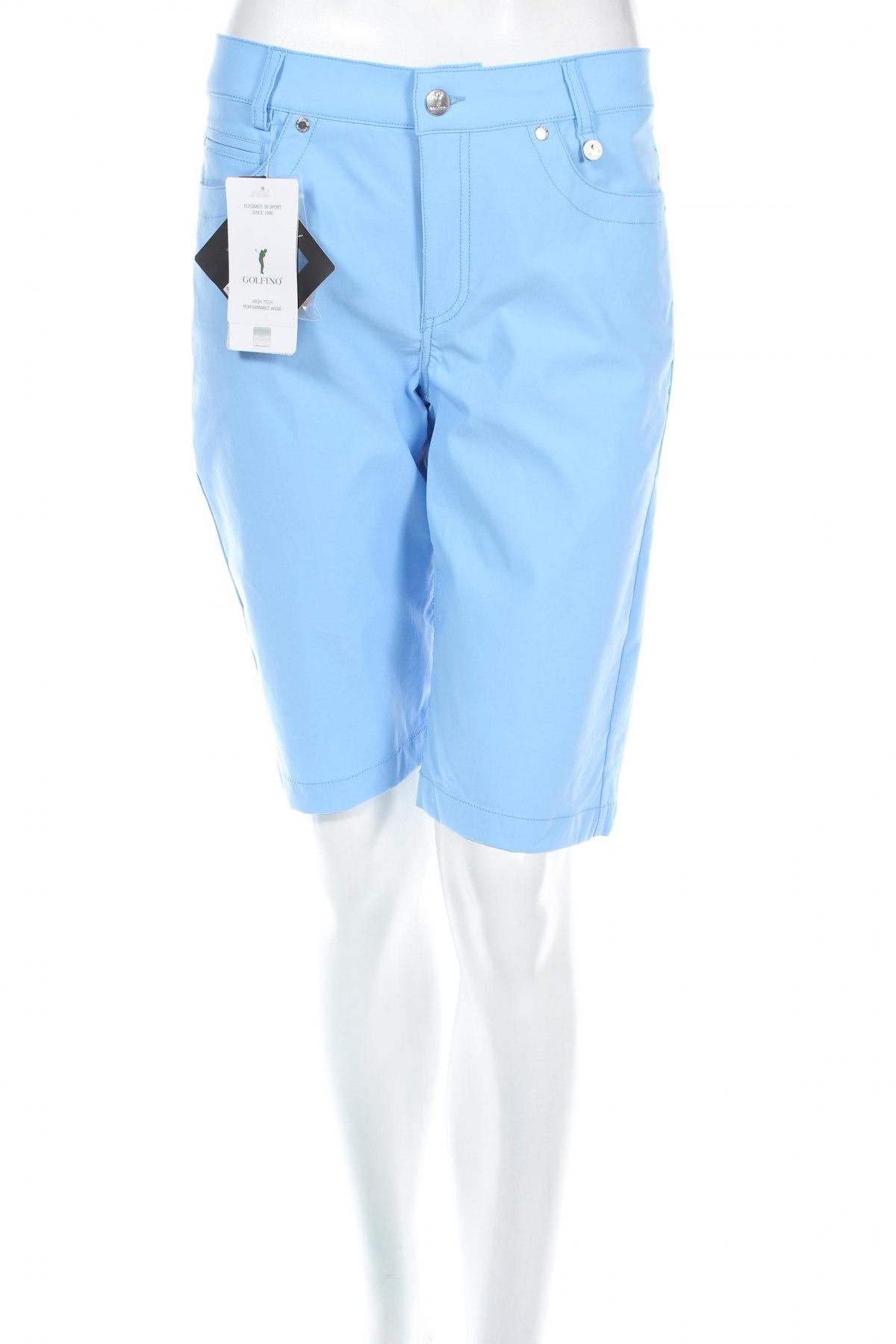 Дамски къс панталон Golfino, Размер M, Цвят Син, 94% полиамид, 6% еластан, Цена 28,50лв.