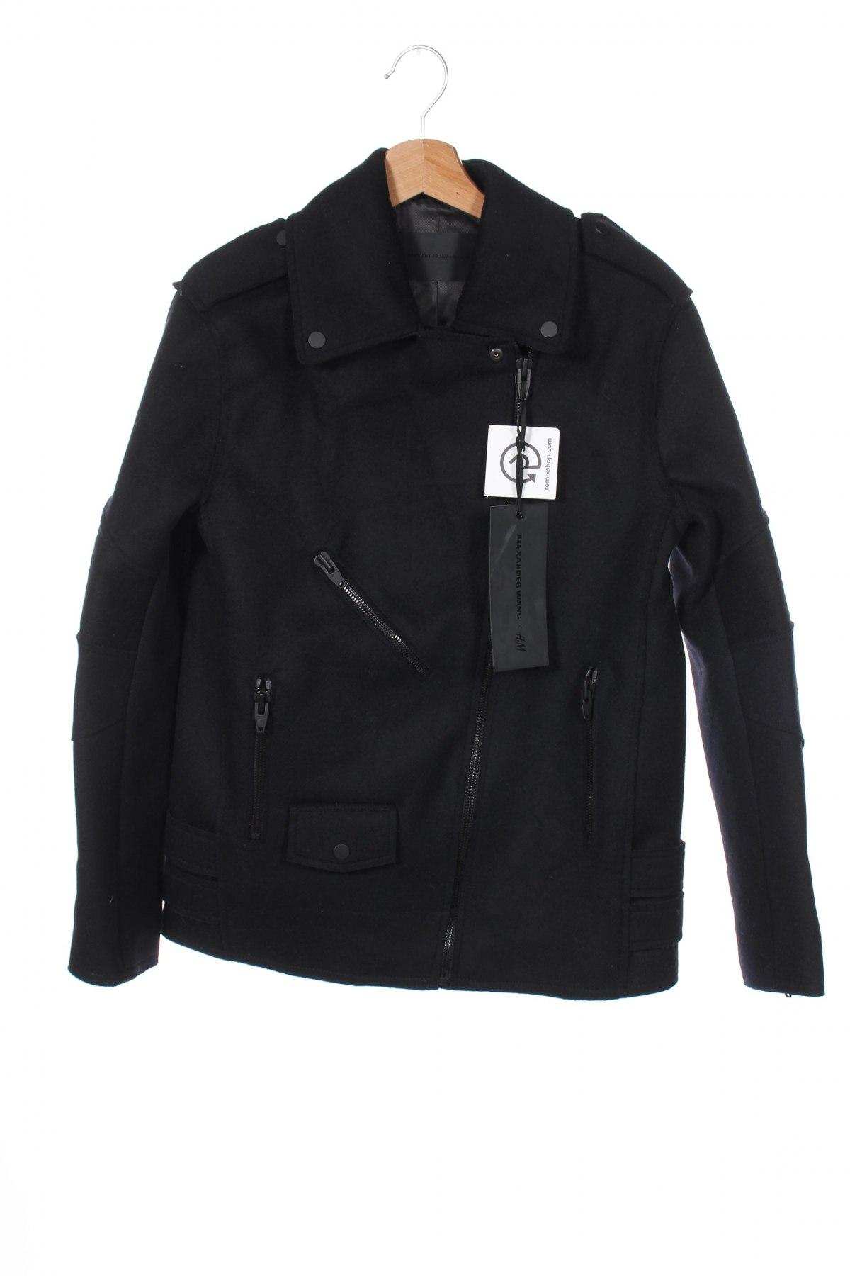 Дамско яке Alexander Wang For H&M, Размер S, Цвят Син, 68% вълна, 32% полиамид, Цена 216,75лв.