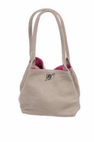 Чанта, Цвят Бежов, Естествена кожа, Цена 35,49лв.