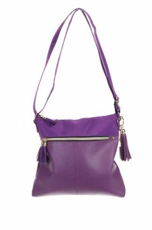 Дамска чанта, Цвят Лилав, Текстил, еко кожа, Цена 8,19лв.