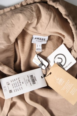 Γυναικείο φούτερ Aware by Vero Moda, Μέγεθος XS, Χρώμα  Μπέζ, Βαμβάκι, Τιμή 15,08€