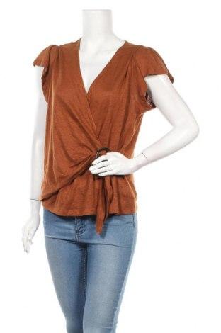 Дамска блуза Banana Republic, Размер L, Цвят Оранжев, 100% лен, Цена 54,00лв.