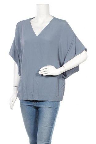 Дамска блуза COS, Размер M, Цвят Син, Вискоза, Цена 25,52лв.