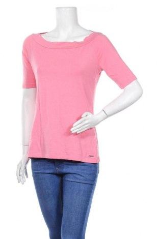 Дамска блуза Comma,, Размер L, Цвят Розов, 46% памук, 46% модал, 8% еластан, Цена 16,82лв.