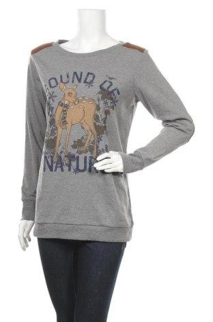 Дамска блуза Crazy World, Размер L, Цвят Сив, 65% полиестер, 35% памук, Цена 15,96лв.