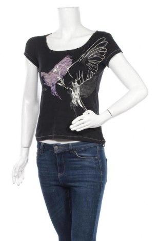 Дамска блуза De.corp By Esprit, Размер S, Цвят Черен, Памук, Цена 8,09лв.