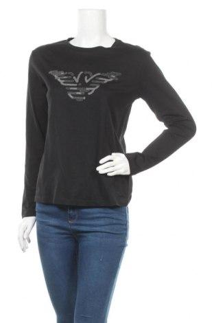 Дамска блуза Emporio Armani, Размер S, Цвят Черен, Памук, Цена 87,45лв.