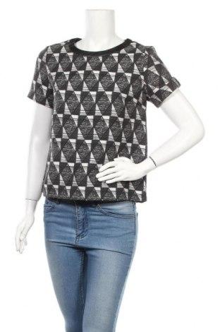 Дамска блуза Esqualo, Размер S, Цвят Черен, 65% памук, 35% полиамид, 5% еластан, Цена 13,55лв.