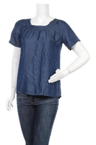 Дамска блуза Fransa, Размер XS, Цвят Син, Лиосел, Цена 16,07лв.