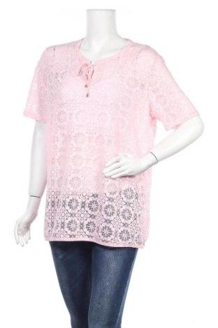 Дамска блуза G.W., Размер XL, Цвят Розов, 85% вискоза, 10% полиестер, 5% еластан, Цена 9,71лв.