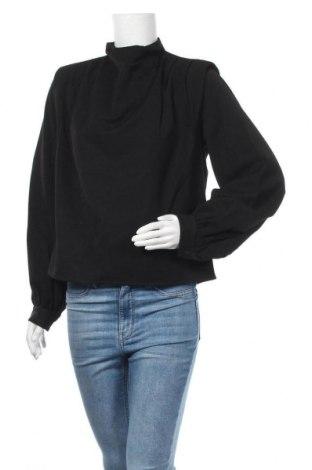 Дамска блуза Gestuz, Размер S, Цвят Черен, 75% полиестер, 21% вискоза, 4% еластан, Цена 57,42лв.
