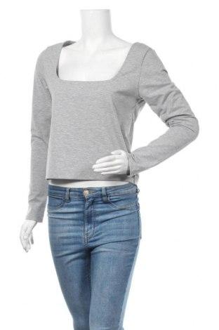 Γυναικεία μπλούζα Gina Tricot, Μέγεθος XL, Χρώμα Γκρί, 66% πολυεστέρας, 26% βαμβάκι, 8% ελαστάνη, Τιμή 1,97€