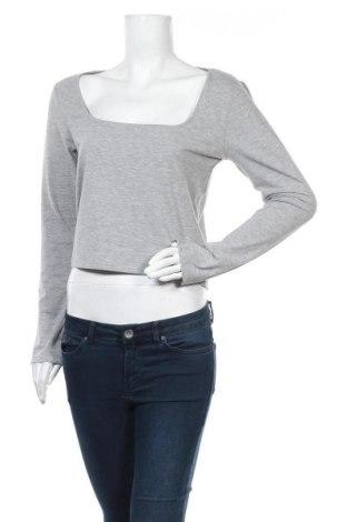 Bluză de femei Gina Tricot, Mărime L, Culoare Gri, 66% poliester, 26% bumbac, 8% elastan, Preț 10,78 Lei