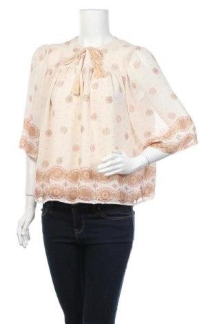 Дамска блуза H&M L.O.G.G., Размер M, Цвят Бежов, Полиестер, Цена 4,73лв.