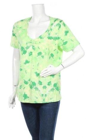Дамска блуза Laura T., Размер XL, Цвят Зелен, 95% памук, 5% еластан, Цена 11,76лв.
