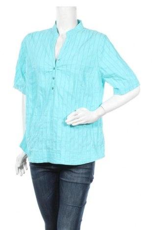 Дамска блуза Mark Adam, Размер XL, Цвят Син, 74% памук, 22% полиамид, 4% еластан, Цена 15,12лв.