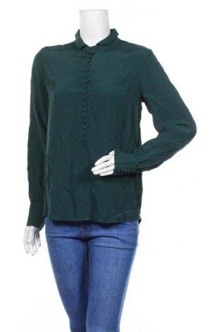Дамска блуза Modstrom, Размер S, Цвят Зелен, Вискоза, Цена 31,50лв.