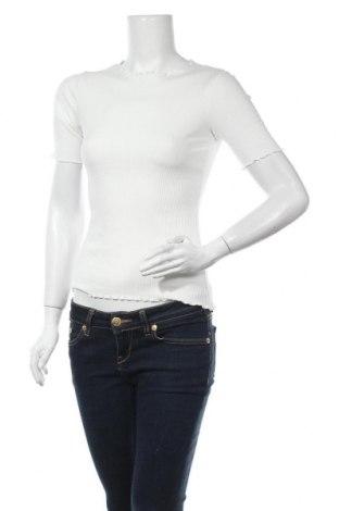 Дамска блуза Na-Kd, Размер S, Цвят Бял, 95% памук, 5% еластан, Цена 24,00лв.