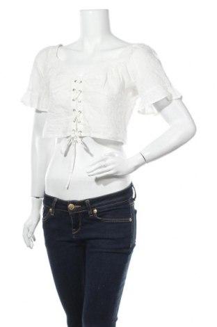 Дамска блуза Na-Kd, Размер M, Цвят Бял, 100% памук, Цена 33,00лв.