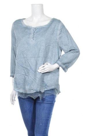 Дамска блуза Nile, Размер L, Цвят Син, Цена 17,96лв.