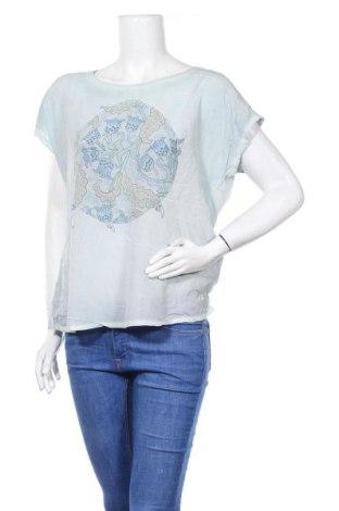 Дамска блуза Nile, Размер L, Цвят Син, 50% памук, 45% вискоза, 5% еластан, Цена 20,79лв.