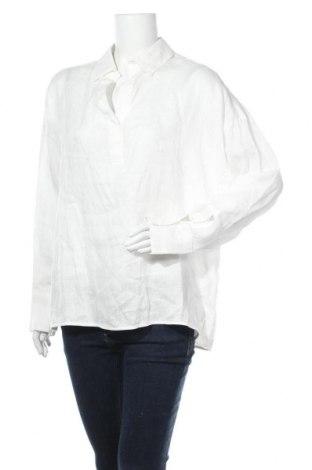 Дамска блуза Oui, Размер L, Цвят Бял, 100% лен, Цена 84,00лв.