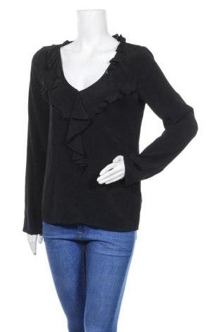 Дамска блуза Patrizia Pepe, Размер M, Цвят Черен, 76% ацетат, 24% коприна, Цена 32,80лв.