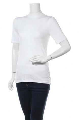 Дамска блуза Pieces, Размер M, Цвят Бял, 52% лиосел, 43% вискоза, 5% еластан, Цена 31,50лв.