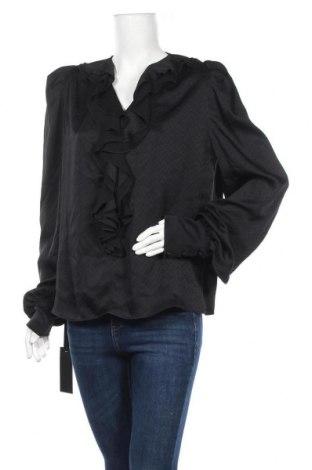 Дамска блуза Pinko, Размер M, Цвят Черен, 89% ацетат, 11% коприна, Цена 45,22лв.