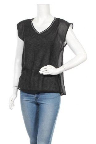 Дамска блуза S.Oliver, Размер XS, Цвят Черен, 40% вискоза, 30% полиестер, 25% метални нишки, 5% еластан, Цена 10,50лв.