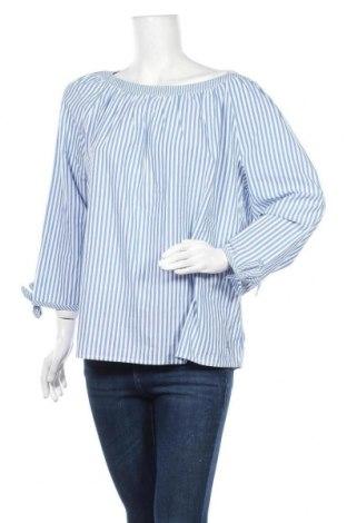 Γυναικεία μπλούζα S.Oliver, Μέγεθος XL, Χρώμα Μπλέ, Βαμβάκι, Τιμή 14,60€