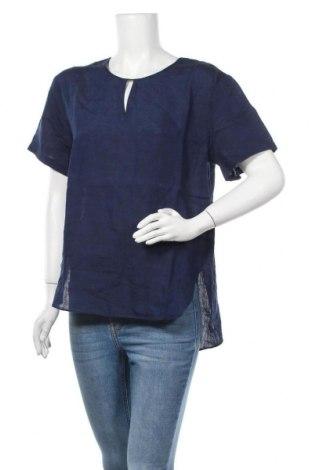 Дамска блуза Seidensticker, Размер S, Цвят Син, Лен, Цена 43,07лв.