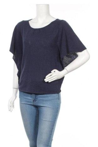 Дамска блуза Silvian Heach, Размер M, Цвят Син, 57% вискоза, 43% памук, Цена 31,15лв.