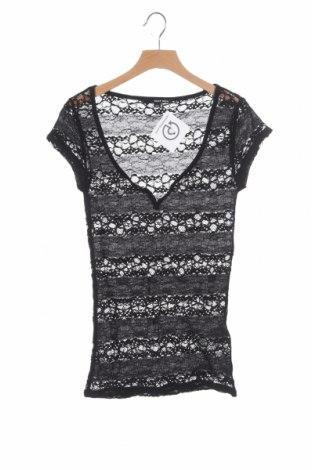 Дамска блуза Tally Weijl, Размер XXS, Цвят Черен, 95% полиамид, 5% еластан, Цена 4,20лв.