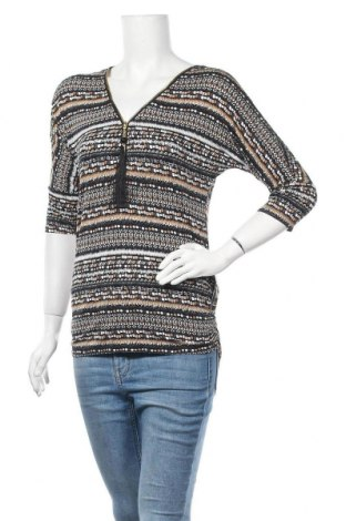 Дамска блуза Tout Feu Tout Femme, Размер S, Цвят Многоцветен, 95% вискоза, 5% еластан, Цена 8,82лв.