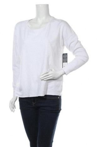 Дамска блуза True Religion, Размер S, Цвят Бял, 48% памук, 48% лен, 4% еластан, Цена 68,62лв.