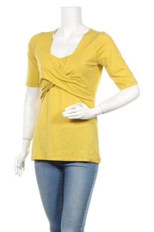 Дамска блуза Turnover, Размер M, Цвят Зелен, 67% лиосел, 33% памук, Цена 19,04лв.