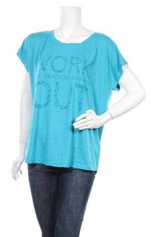 Дамска блуза Vittorio Rossi, Размер XL, Цвят Син, 85% полиестер, 15% еластан, Цена 16,96лв.