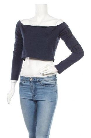 Bluză de femei Weekday, Mărime L, Culoare Albastru, 52% bumbac, 48% poliuretan, Preț 7,35 Lei