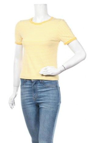 Γυναικεία μπλούζα Yes Or No, Μέγεθος M, Χρώμα Κίτρινο, 60% βισκόζη, 35% πολυεστέρας, 5% ελαστάνη, Τιμή 3,86€